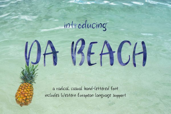 Da Beach casual hand-lettered font