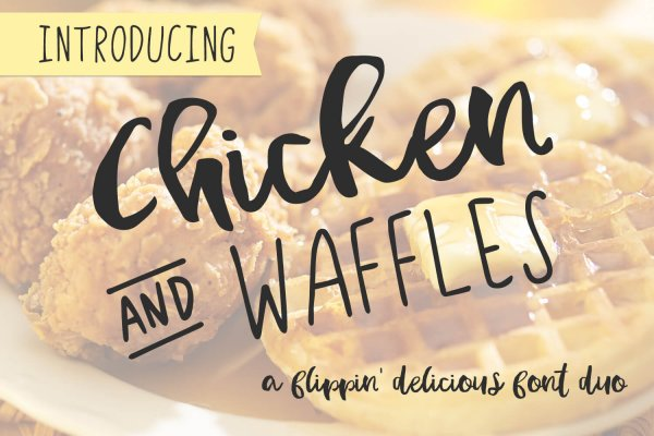 font duo Chicken & Waffles sans and brush script