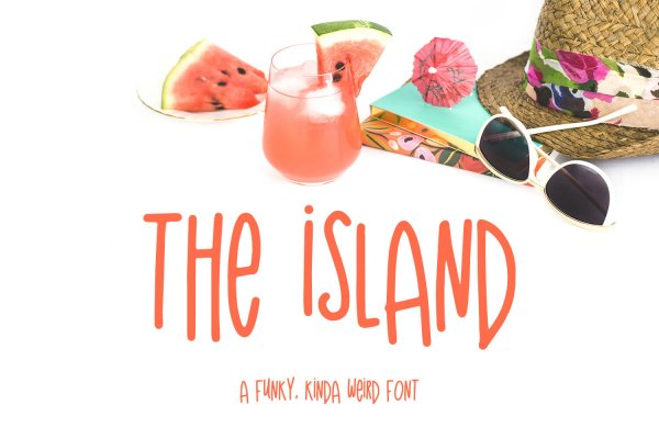 The Island funky font