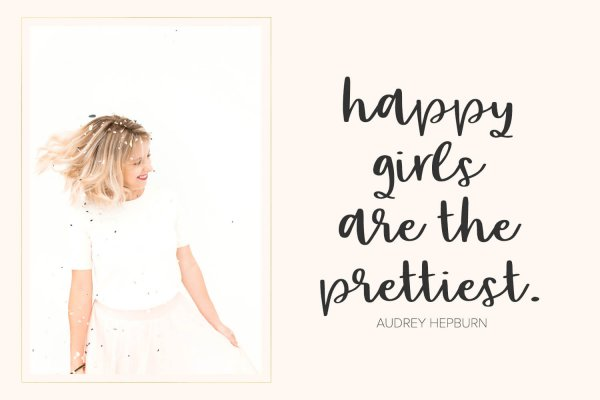 happy girls quote Party Dress font