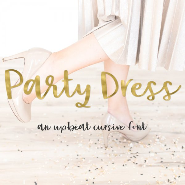 Party Dress Upbeat Cursive Font