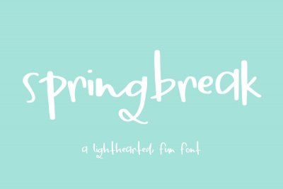 Springbreak a Light-hearted Fun Font
