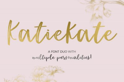multiple personalities Katiekate font duo