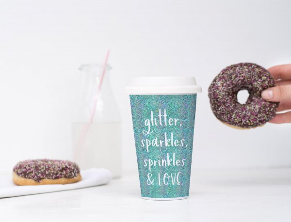 coffee cup Kirsteny Hand-lettered Sans Font