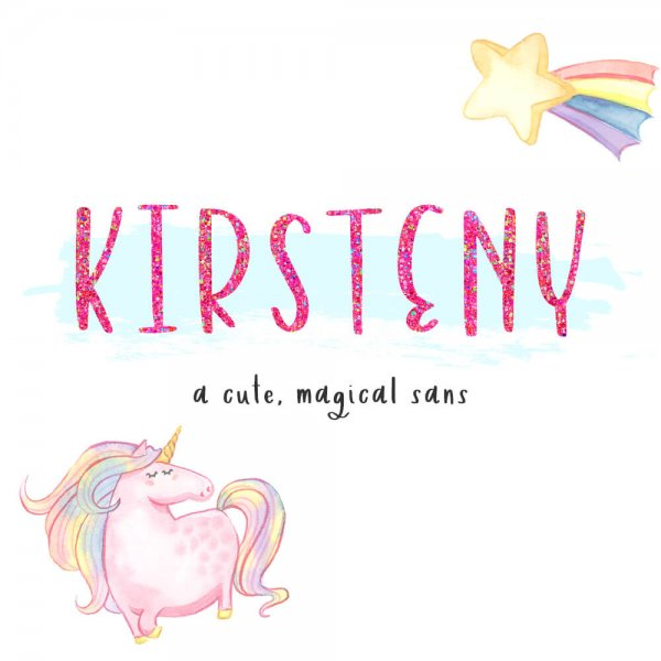 Kirsteny cute, magical Sans Font