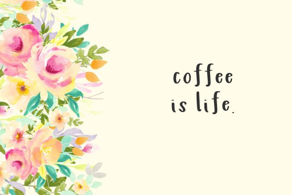 coffee quote Lilykins Sans