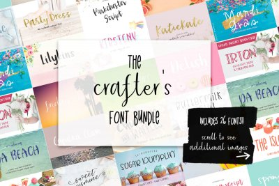 whimsical fonts and crafting fonts