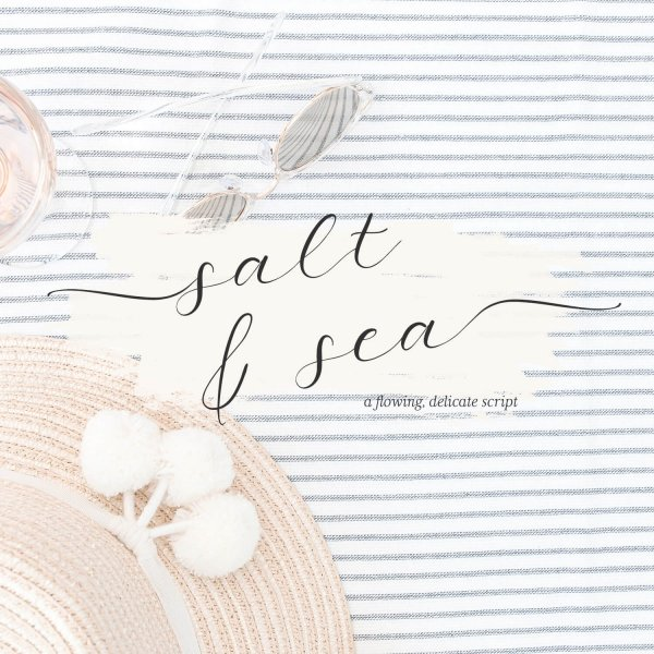 calligraphy font Salt and Sea