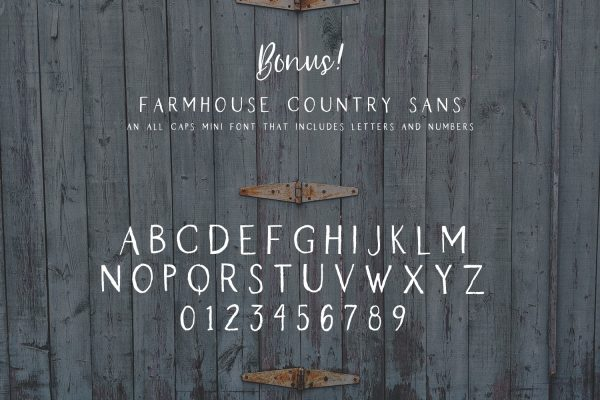Farmhouse Country Sans character map