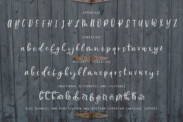 character map Farmhouse Country Script