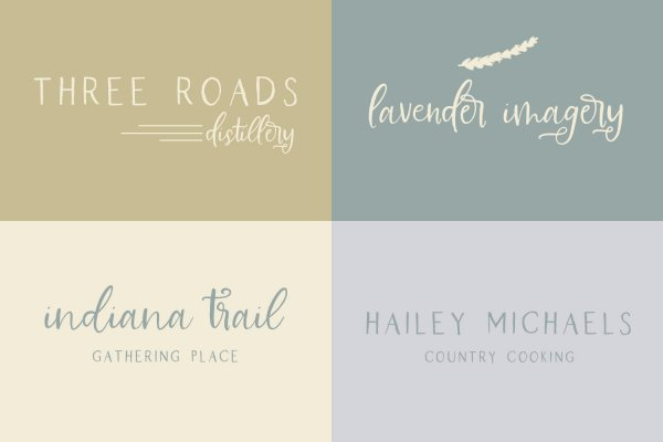 examples Farmhouse Country fonts