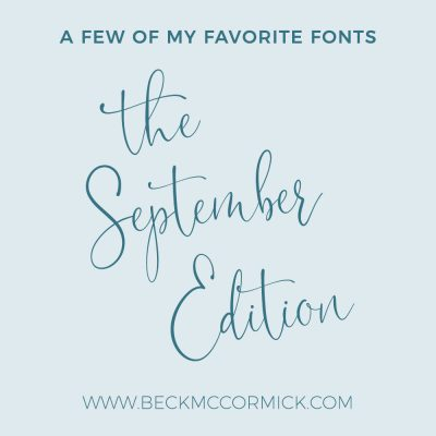 Font Crushes – The September Edition