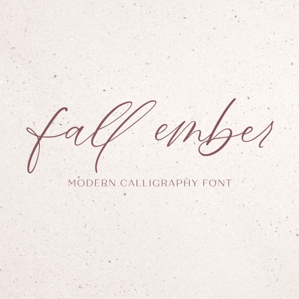 fall ember calligraphy script