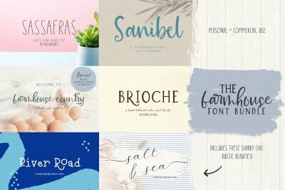 farmhouse font bundle
