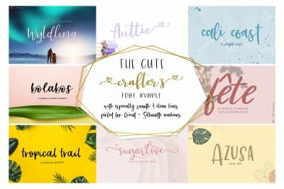 crafter's font bundle - fun fonts