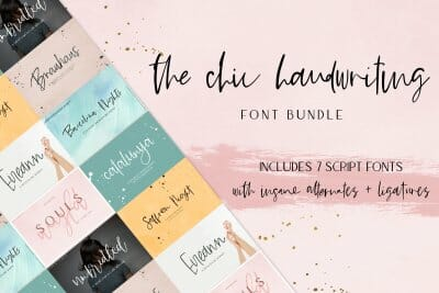 handwriting font bundle