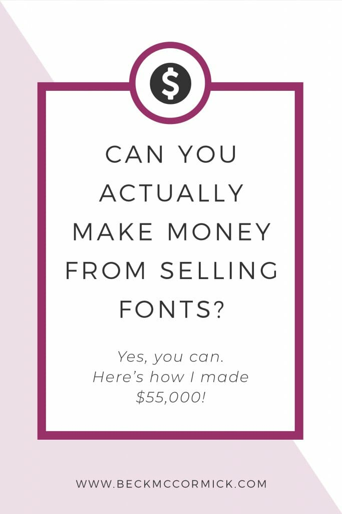 make money selling fonts