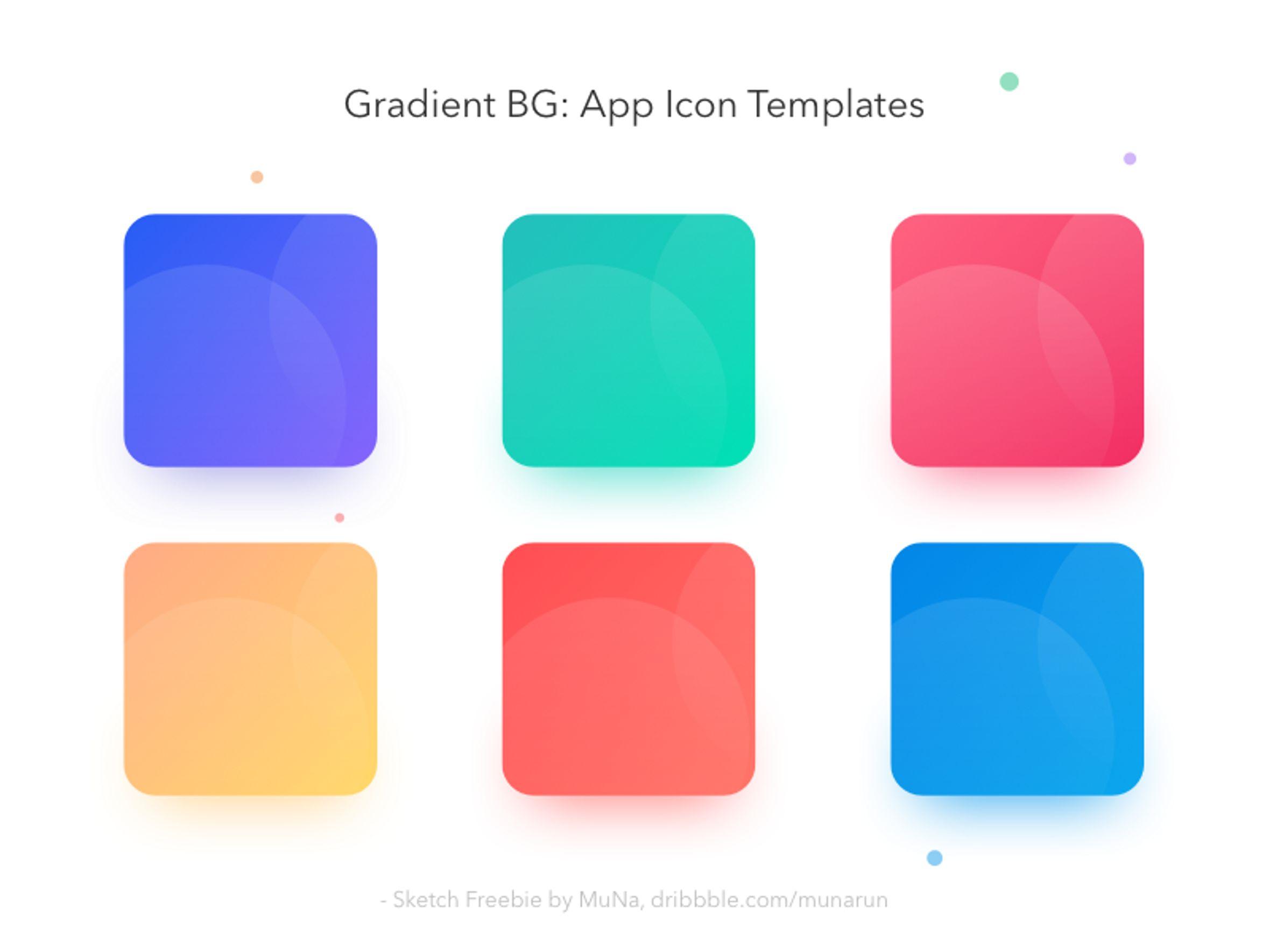 Bestfolios - Gradient BG App icon Templates - Sketch Freebie
