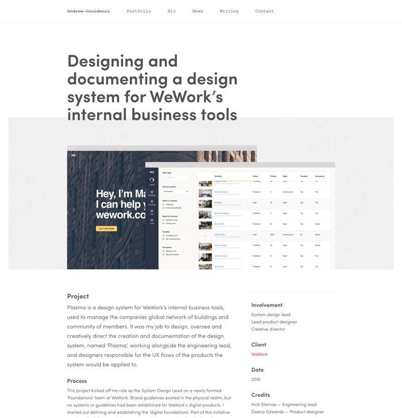 Bestfolios - WeWork: Internal Tool Design System