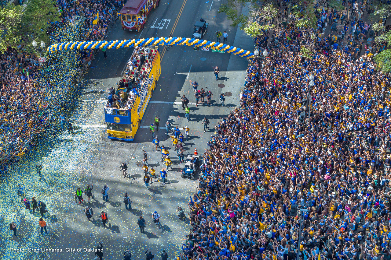 Image result for golden state warriors 2018 championship parade