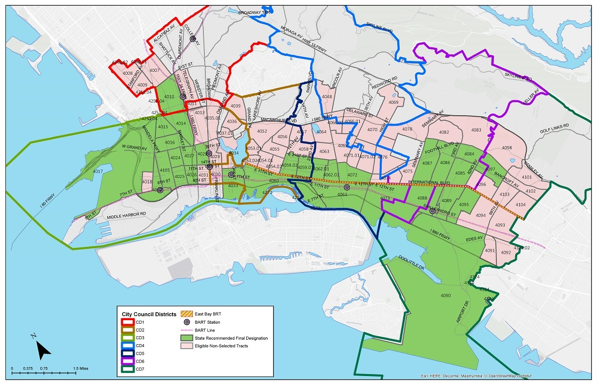 Map Of Oakland Ca City of Oakland | Designated Opportunity Zones