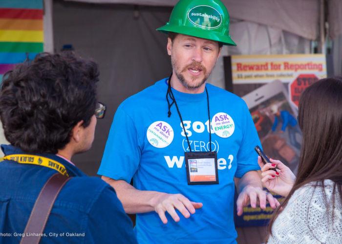 Public Works Employee at Volunteer Event