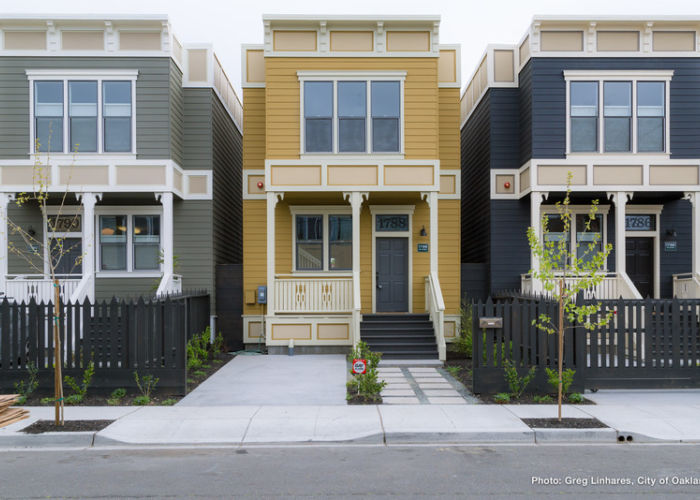 New Oakland Housing Small Colorful Townhouses