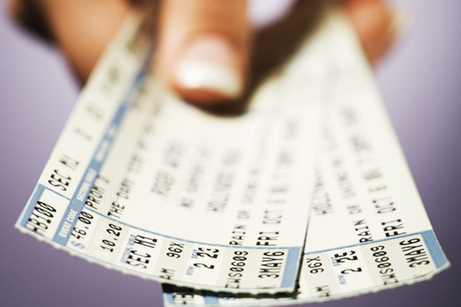 Image of =Tickets in hand