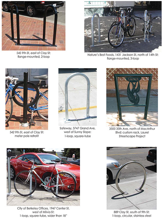 acceptable bike rack types