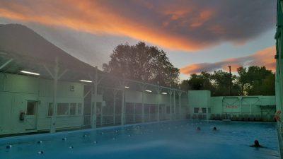 Keough's Hot Springs at dusk Photo: John DeRousseau
