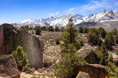 Bouldering the Buttermilks in Winter - Photo: Derrick Krause