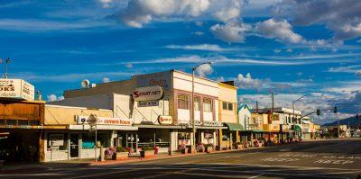 image of downtown Bishop, CA