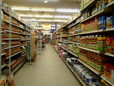 image of a grocery store aisle.