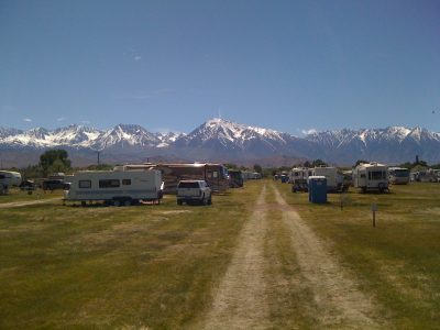Image of RV camping at Bishop Mule Days