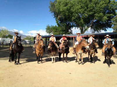 image of Bishop Mule Days mounted security team on horses and mules.