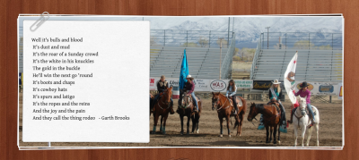 image of a group of rodeo riders with flags