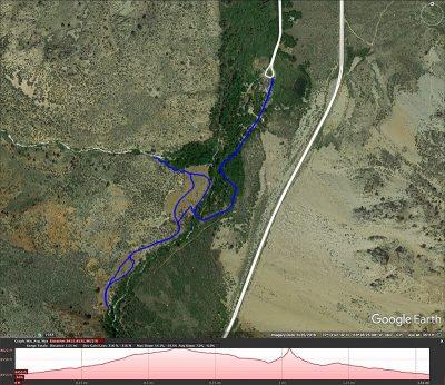 Cardinal Mine and Falls hike map