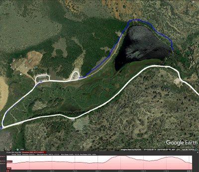 North Lake Rim trail map