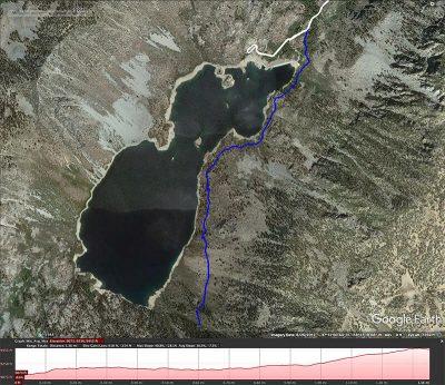 Sabrina Lakeside trail map
