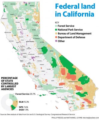 Map of California Federal Lands