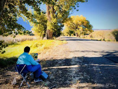 Plein Air Painter. Bishop, CA