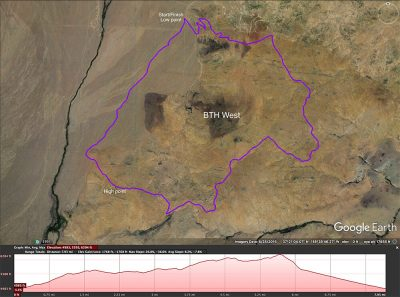 Hills west cycling map