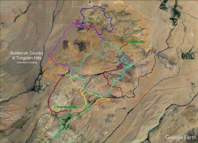 Buttermilk Country & Tungsten Hills map