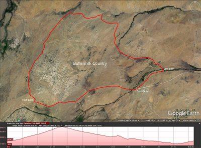 Mountain bike map. Buttermilk Country. Bishop. Ca