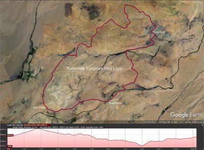 Trail map. Tungsten hills. Bishop
