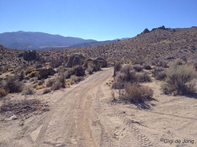 Dirt road. Buttermilk country. Bishop