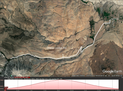 Glacier Lodge Rd map