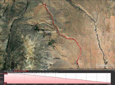 Lower Rock Creek map. Bishop.