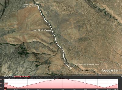 Lower Rock Creek map