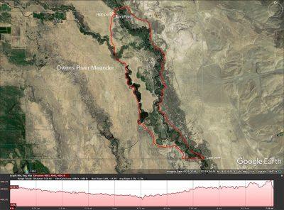 Owens River Meander map